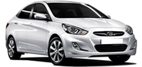 Hyundai Accent Blue automatic